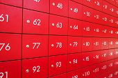image of old post office  - Red post box at Post office in Thailand - JPG