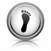 foto of webbed feet white  - Foot print icon - JPG