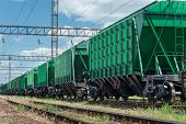 foto of railroad car  - railroad car for dry cargo - JPG