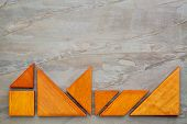 image of tangram  - seven tangram wooden pieces - JPG