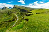 pic of landslide  - The beautiful Quiraing mountains on the Isle of Skye - JPG
