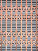 foto of roller shutter door  - orange Horizontal Shutter Door and gray vertical shutter door - JPG