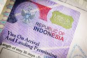 picture of citizenship  - Detail of 2014 Indonesia Visa on passport - JPG