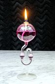 pic of kerosene lamp  - Kerosene lamp with fragrance on the marble table - JPG