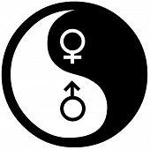 stock photo of yin  - Yin Yang symbol isolated on white background - JPG