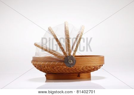 malay traditional basket ,food container with cover