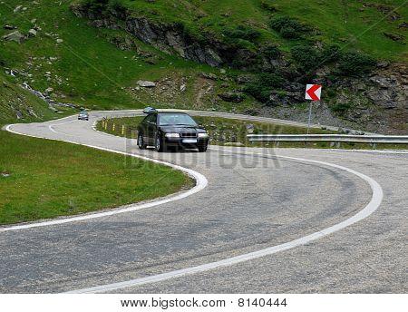 Alpine Highway Transfagarasan In Romania