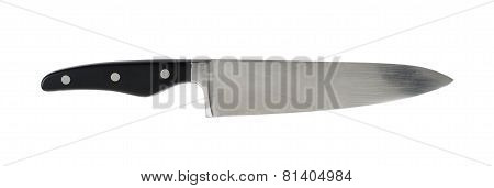 Steel metal kitchen knife isolated