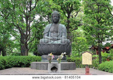 Japanese Buddha At Senso-ji Temple