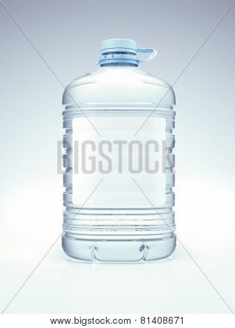 Large blue bottle with water