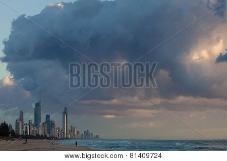 Modern Australian City Along The Coast