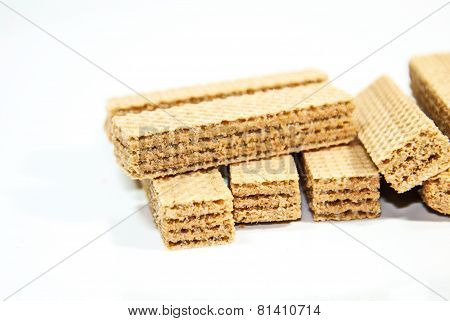 Wafer Seems The General Review On A White Background.