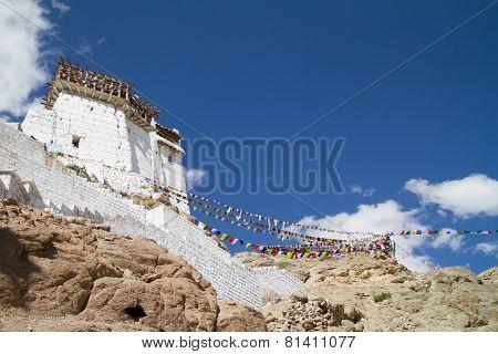 Namgyal Tsemo Monastery View At Sunny Day (india)