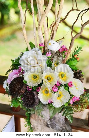 Flower Arrangement In Vases