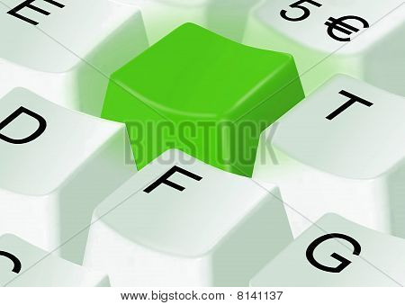 Green Computer Key