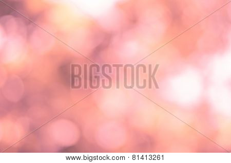 Abstract Background Blur Bokeh In Warm Tone