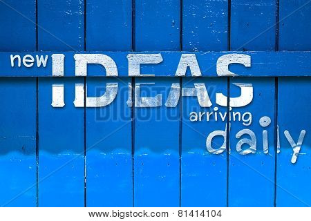 New Idea Text On Yellow Old Wood Background