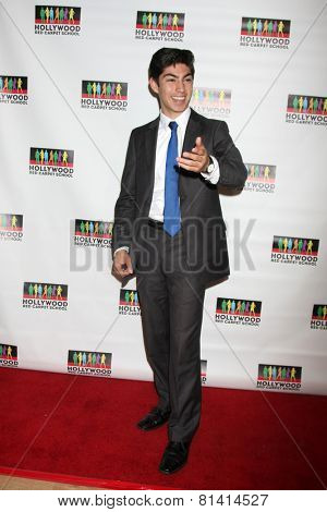 LOS ANGELES - JAN 17:  Jeromy Ramos at the Hollywood Red Carpet School at Secret Rose Theater on January 17, 2015 in Studio City, CA