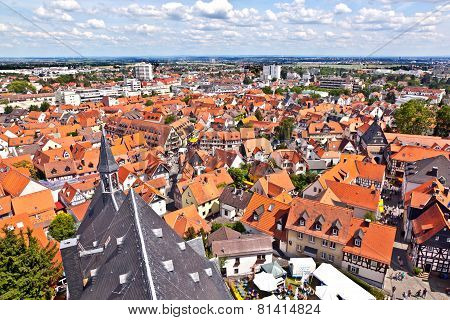 OBERURSEL, GERMANY - JUNE 9, 2012: cityview of old historic town of Oberursel Germany.