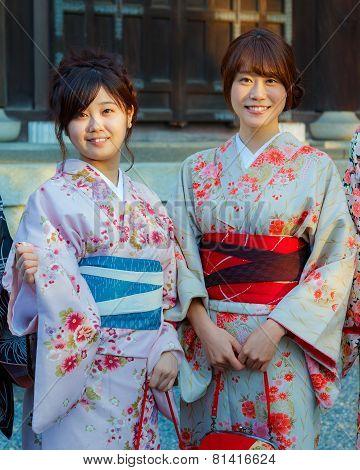 Japanese Ladies in Kyoto