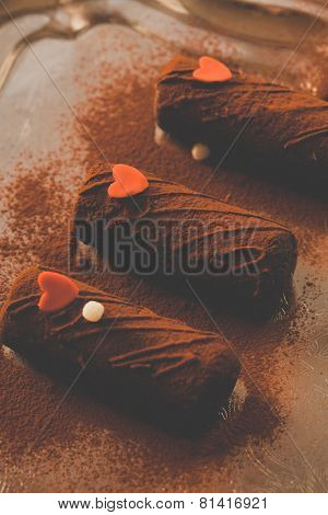 chocolate pastries for Valentine's day
