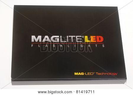 Hayward, CA - January 27, 2015: New Mini MAGLITE PRO LED flashlight in presentation box
