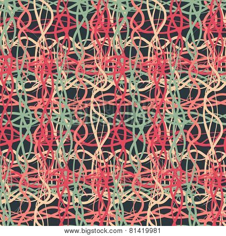 Seamless Pattern Of Dark Colored Thread