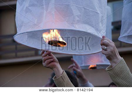 Hot Air Lanterns Of Luck