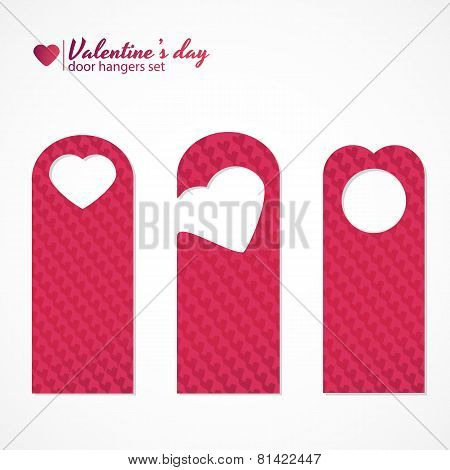 Set of three valentines day themed door hangers