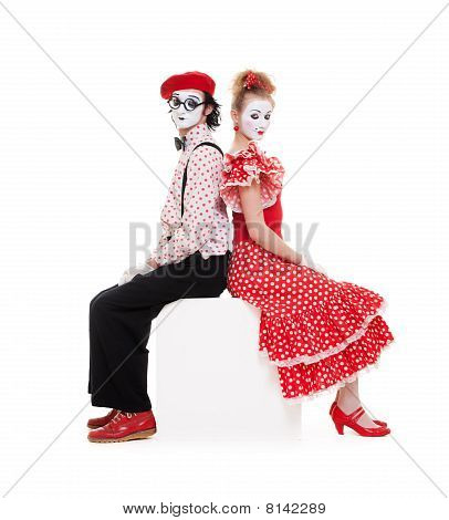 Portrait Of Beautiful Couple Mimes