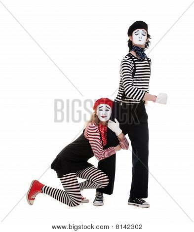 Portrait Of Mimes