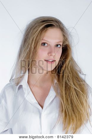 Young Woman Waked Up