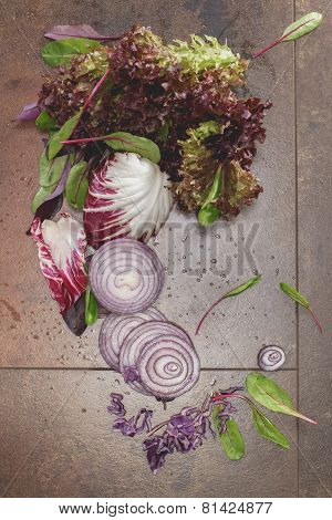Mixed purple vegetables
