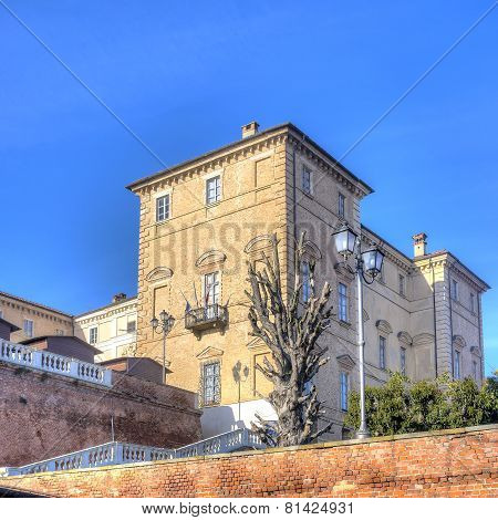 Govone Castle, Cuneo (Italy). Color image