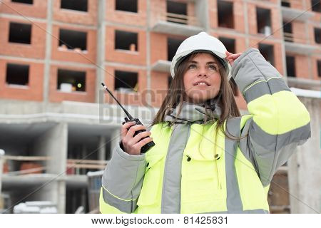 Civil Engineer At Consruction Site