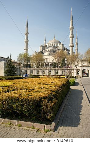View of Sultanahmet (Blue) Mosque in Istanbul