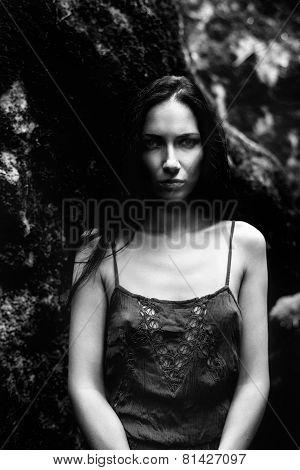 girl in the old park
