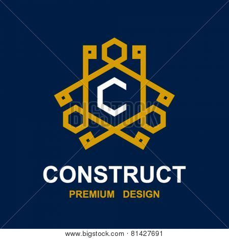 vector abstract construct pictogram design