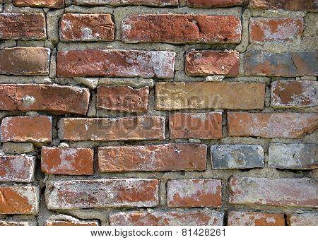 Aged Brick Wall.