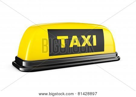 Yellow Taxi Car Roof Sign