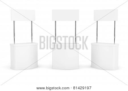 Blank Promotion Stands