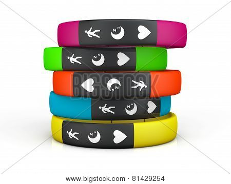 Multicolour Fitness Trackers