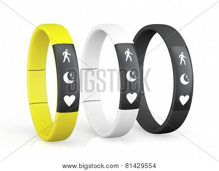 Three Fitness Trackers