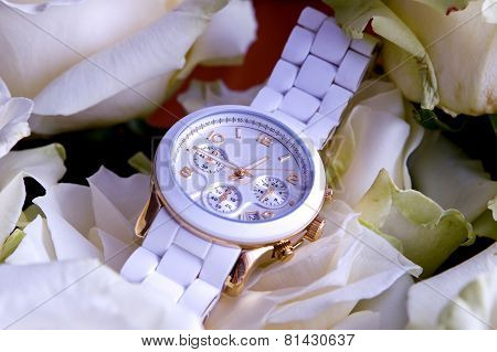 White Wristwatch