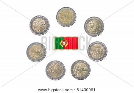 Collection Of Commemorative Coins Of Portugal