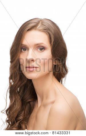 Glowing skin Caucasian young woman