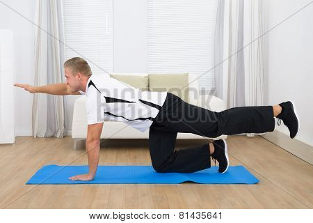 Healthy Young Man Exercising