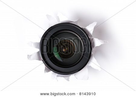 Lens In Hole
