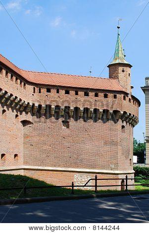 The Barbican In Krakow, Poland.
