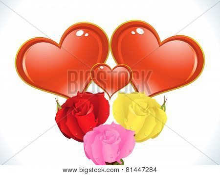 Abstract Artistic Valentine Background